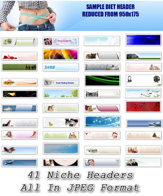 Product picture 41 Niche Headers (PLR)