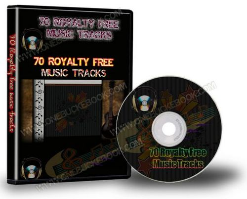 Product picture 70 Royalty Free Music Tracks (PLR).rar