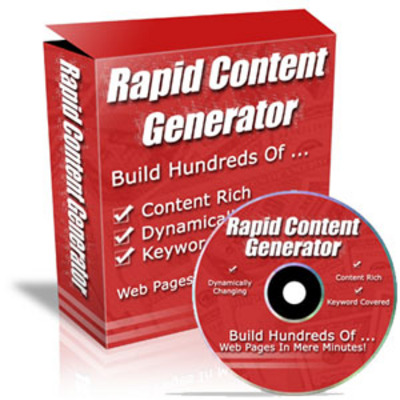 Product picture Rapid Content Generator (MRR)