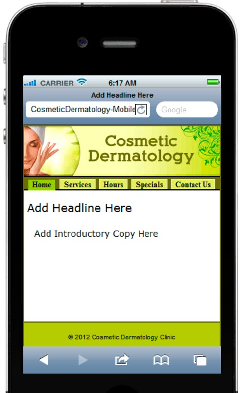 Product picture Cosmetic Dermatology Mobile Site Template