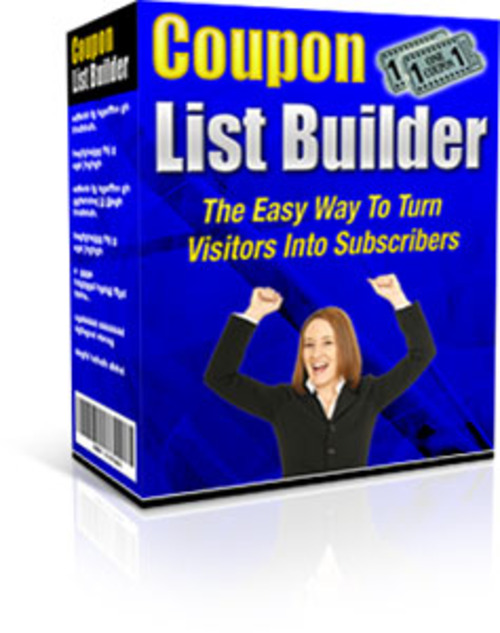 Product picture Coupon List Builder + Master Resale Rights