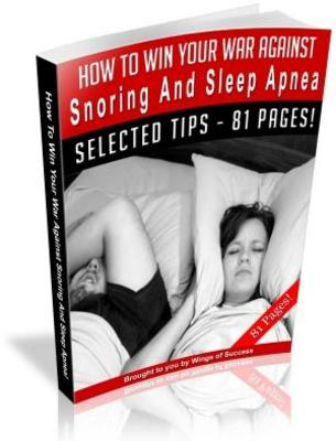 Product picture How To Win Your War Against Snoring And Sleep Apnea (MRR)
