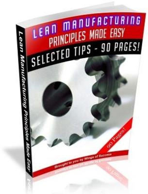 Product picture Lean Manufacturing Principles Made Easy (MRR)